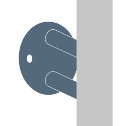 Mocowania słupa do ściany